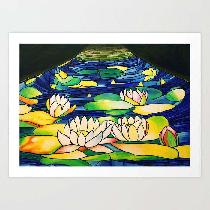 River of Lotus Blossoms Art Print