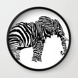 Elephant Canvas Print Wall Clock