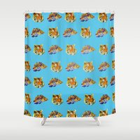 tigers Shower Curtains featuring Tigers by Nahal