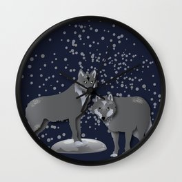 Wolves - 'A Fantastic Journey' Wall Clock