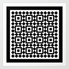 Victorian tile pattern #1 Art Print