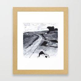 Hot Day at Fire Island Framed Art Print