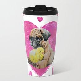 Pug and Chick Love Travel Mug