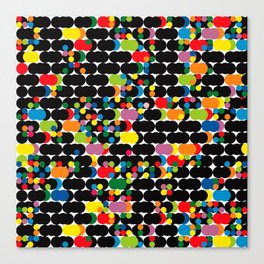 DOTS - polka 1 Canvas Print