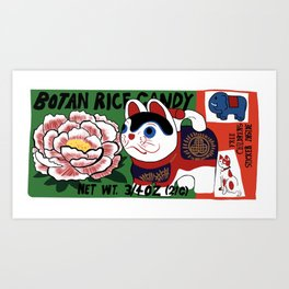 Botan Rice Candy Meow Art Print
