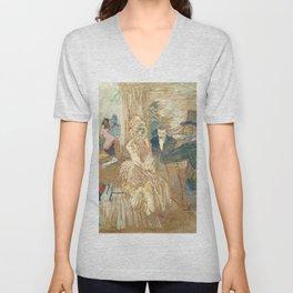 """Henri de Toulouse-Lautrec """"Au Bal masqué de l'Elysée Montmartre"""" Unisex V-Neck"""