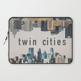 Twin Cities Minneapolis and Saint Paul Minnesota Skylines Laptop Sleeve