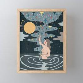 Full Moon blessings Framed Mini Art Print