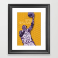 Bleed Purple and Gold Framed Art Print
