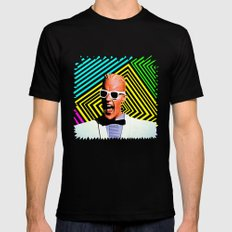 MAX HEADROOM  |  80's Inspiration Black Mens Fitted Tee LARGE