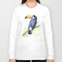 toucan Long Sleeve T-shirts featuring Toucan by Olechka