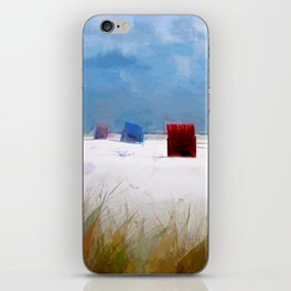 Holiday on beach iPhone Skin