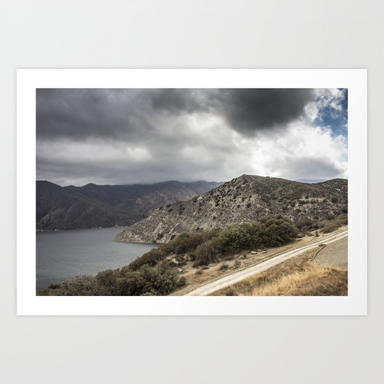 Incoming California Storm Art Print
