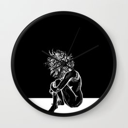 Blossom in the Void Wall Clock
