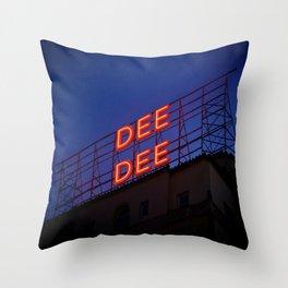 NEON DEE DEE Throw Pillow