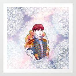 BTS Jungkook, King Jungkook, Kings of KPOP, Love Yourself, Boy With Luv Art Print