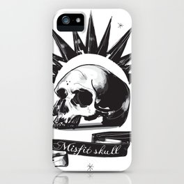Misfit Skull iPhone Case