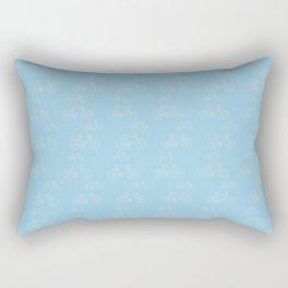 Blue Vintage Road Racing Bicycle Pattern Rectangular Pillow