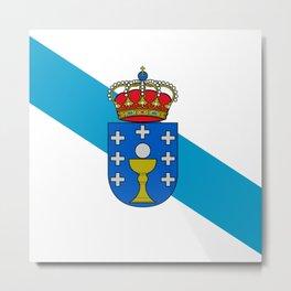 flag of Galicia Metal Print