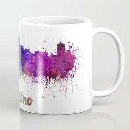 Fresno skyline in watercolor Coffee Mug