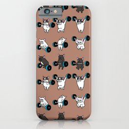 OLYMPIC LIFTING  FRENCH BULLDOG iPhone Case