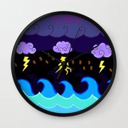 Coffee Storm Wall Clock