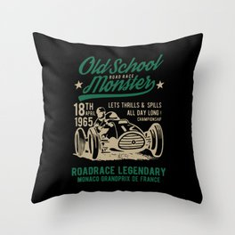 old school road race monster Throw Pillow