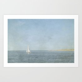 Sunday Sail  - Cape Cod Art Print