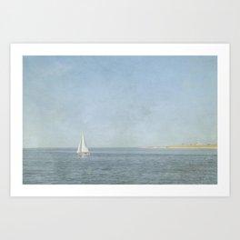 Sunday Sail  - Cape Cod Art Print