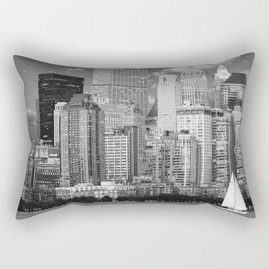 Manhattan in Black & White (New York, NY, USA) Rectangular Pillow