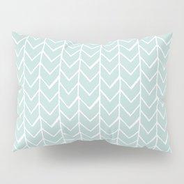 Herringbone Mint Pillow Sham