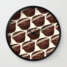 Cupcake Pattern Wall Clock