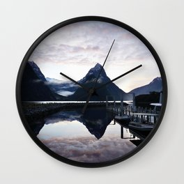Sunset to die for at Milford Sound Wall Clock
