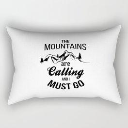 typograph Mountains are calling Rectangular Pillow
