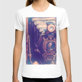 Preserving the Past a digital photograph of a vintage folding camera T-shirt