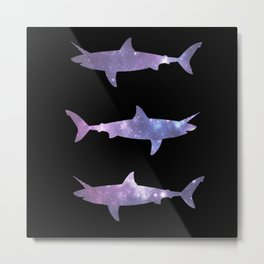 Sharkicorns in Space Metal Print