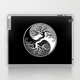 White and Black Tree of Life Yin Yang Laptop & iPad Skin