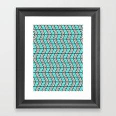 Blue Retro  Framed Art Print