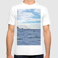House by the Frozen Sea MEDIUM White Mens Fitted Tee
