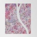 Budapest map by mapmapmapswatercolors