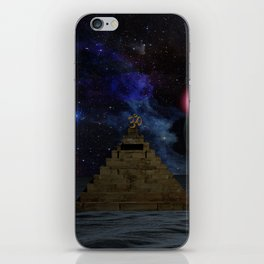 OM and the space Pyramid iPhone Skin