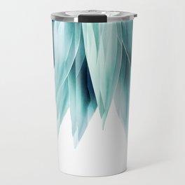 Agave geo fringe - teal Travel Mug