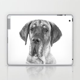 Black and White Great Dane Laptop & iPad Skin
