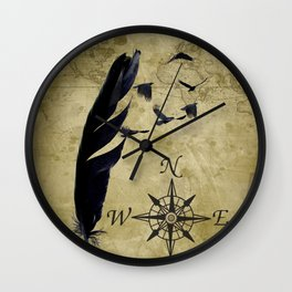 As the Crow Flies A677 Wall Clock