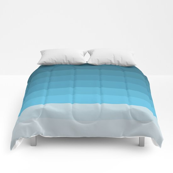 Blue Lagoon stripes pattern Comforters