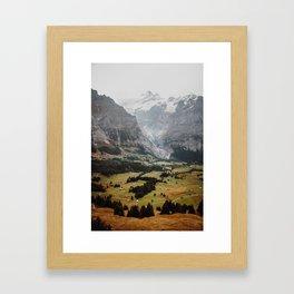 Swiss peaks Framed Art Print