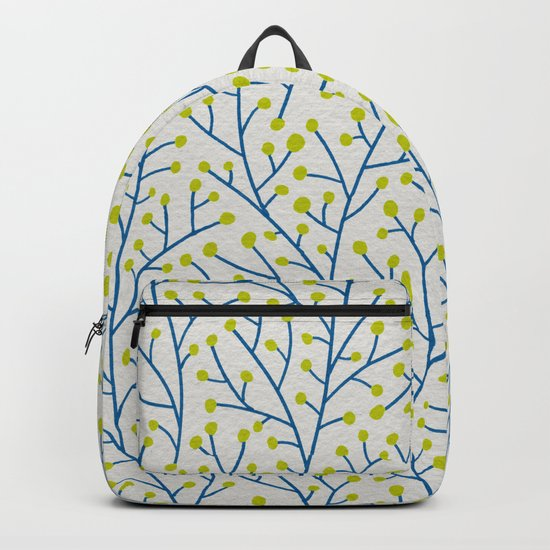 Berry Branches - Lime & Blue Backpack
