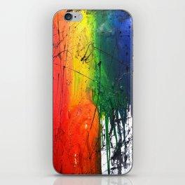 Rainbow rain iPhone Skin