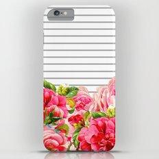 Floral Stripes Slim Case iPhone 6 Plus