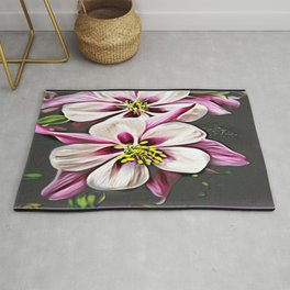 Floral Embosses: Double Columbine 01-01 Rug